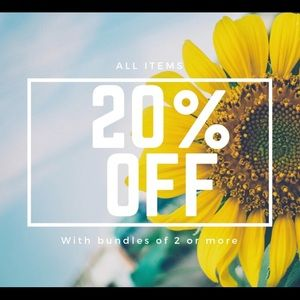 Other - Save 20% off when bundle 2 or more items